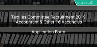 Textiles Committee Recruitment 2019 Accountant & Other 16 Vacancies