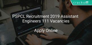 PSPCL Recruitment 2019 Assistant Engineers 111 Vacancies