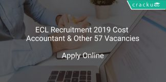 ECL Recruitment 2019 Cost Accountant & Other 57 Vacancies
