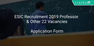 ESIC Recruitment 2019 Professor & Other 22 Vacancies
