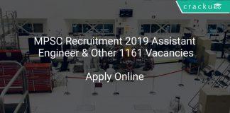 MPSC Recruitment 2019 Assistant Engineer & Other 1161 Vacancies