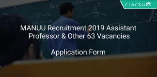 MANUU Recruitment 2019 Assistant Professor & Other 63 Vacancies