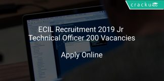 ECIL Recruitment 2019 Jr Technical Officer 200 Vacancies