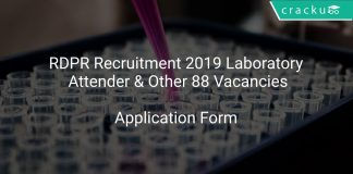 RDPR Recruitment 2019 Laboratory Attender & Other 88 Vacancies