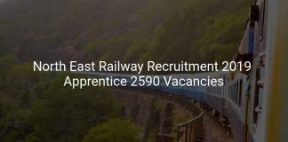 North East Railway Recruitment 2019