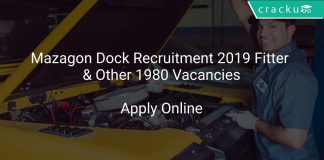 Mazagon Dock Recruitment 2019 Fitter & Other 1980 Vacancies