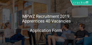 MPWZ Recruitment 2019 Apprentices 40 Vacancies