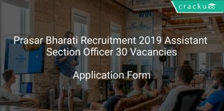 Prasar Bharati Recruitment 2019 Assistant Section Officer 30 Vacancies