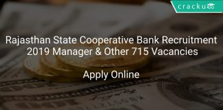Rajasthan State Cooperative Bank Recruitment 2019 Manager & Other 715 Vacancies