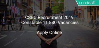 CSBC Recruitment 2019 Constable 11 880 Vacancies