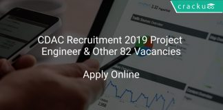 CDAC Recruitment 2019 Project Engineer & Other 82 Vacancies