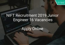 NIFT Recruitment 2019 Junior Engineer 16 Vacancies