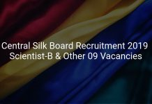 Central Silk Board Recruitment 2019