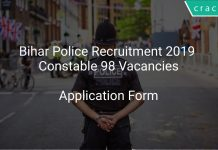 Bihar Police Recruitment 2019 Constable 98 Vacancies