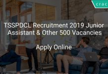 TSSPDCL Recruitment 2019 Junior Assistant & Other 500 Vacancies