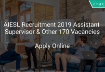 AIESL Recruitment 2019 Assistant Supervisor & Other 170 Vacancies