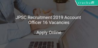 JPSC Recruitment 2019 Account Officer 16 Vacancies