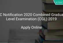 SSC Notification 2020 Combined Graduate Level Examination (CGL) 2019