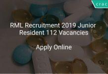 RML Recruitment 2019 Junior Resident 112 Vacancies