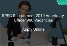 RPSC Recruitment 2019 Veterinary Officer 900 Vacancies