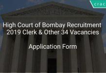 High Court of Bombay Recruitment 2019 Clerk & Other 34 Vacancies