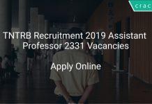 TNTRB Recruitment 2019 Assistant Professor 2331 Vacancies