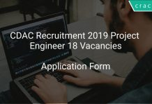 CDAC Recruitment 2019 Project Engineer 18 Vacancies