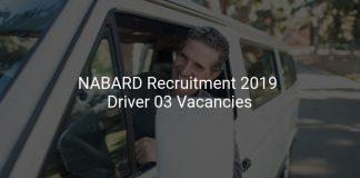 NABARD Recruitment 2019 Driver 03 Vacancies
