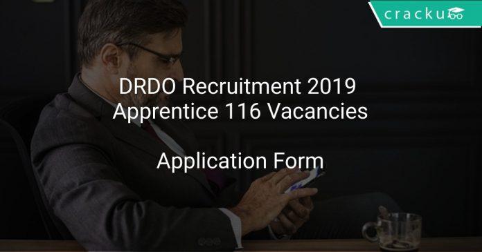 DRDO Recruitment 2019 Apprentice 116 Vacancies