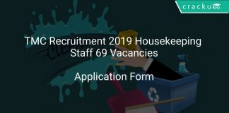 TMC Recruitment 2019 Housekeeping Staff 69 Vacancies
