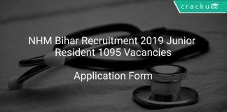 NHM Bihar Recruitment 2019 Junior Resident 1095 Vacancies