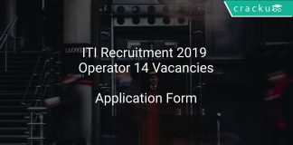 ITI Recruitment 2019 Operator 14 Vacancies