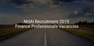 NHAI Recruitment 2019