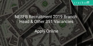 NESFB Recruitment 2019 Branch Head & Other 351 Vacancies