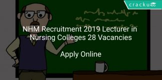 NHM Recruitment 2019 Lecturer in Nursing Colleges 28 Vacancies