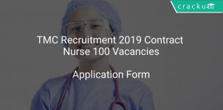 TMC Recruitment 2019 Contract Nurse 100 Vacancies