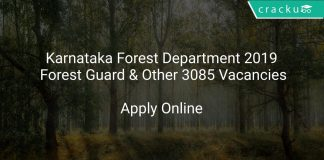 Karnataka Forest Department 2019 Forest Guard & Other 3085 Vacancies