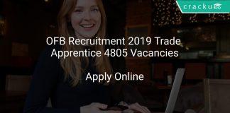 OFB Recruitment 2019 Trade Apprentice 4805 Vacancies