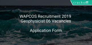 WAPCOS Recruitment 2019 Geophysicist 06 Vacancies