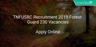 TNFUSRC Recruitment 2019 Forest Guard 230 Vacancies
