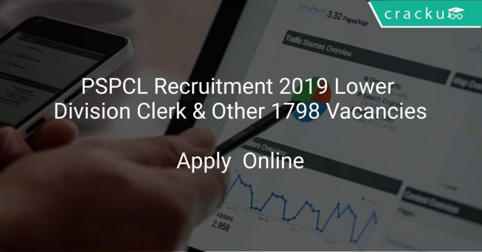 PSPCL Recruitment 2019 Lower Division Clerk & Other 1798 Vacancies
