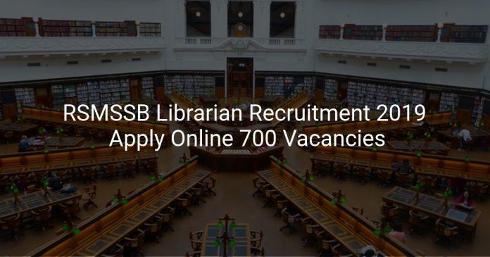 RSMSSB Librarian Recruitment 2019