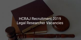 HCRAJ Recruitment 2019