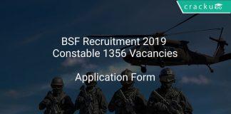 BSF Recruitment 2019 Constable 1356 Vacancies