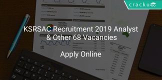 KSRSAC Recruitment 2019 Analyst & Other 68 Vacancies