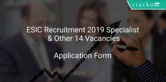 ESIC Recruitment 2019 Specialist & Other 14 Vacancies