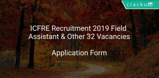 ICFRE Recruitment 2019 Field Assistant & Other 32 Vacancies