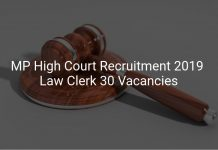 Madhya Pradesh High Court Recruitment 2019