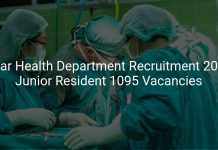 Bihar Health Department Recruitment 2019 Junior Resident 1095 Vacancies