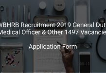 WBHRB Recruitment 2019 General Duty Medical Officer & Other 1497 Vacancies